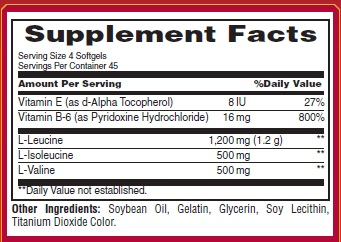 Met-Rx BCAA 2200 Ingredients