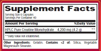 Met-Rx Créatine 4200 Ingrédients Casquettes
