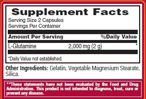 Met-Rx L-Glutamine 1000 Ingredients