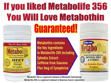 Metabothin vs. Metabolife 356