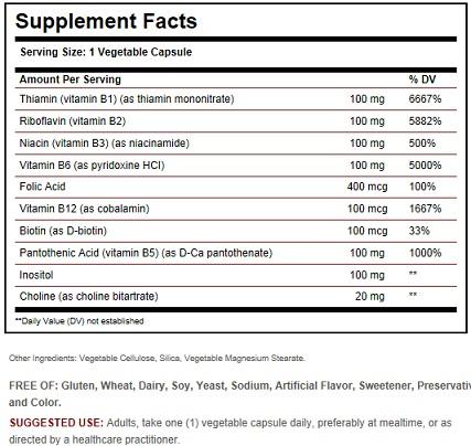 Solgar Vitamin b 100
