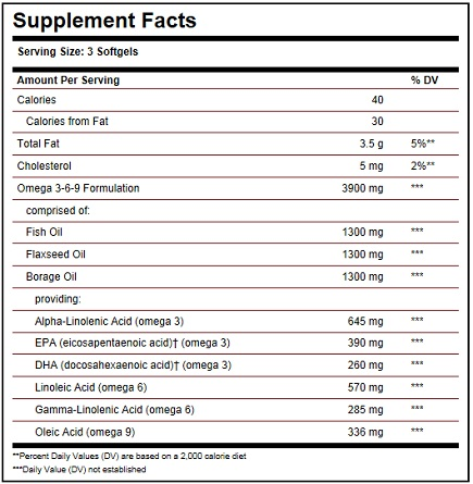 Solgar EFA 1300 mg Ingredients