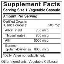 Solgar Garlic Powder Ingredients Label