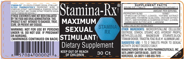 Stamina Rx ingredients