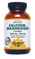 Calcium Magnesium Complex by Country Life, 90 tabs