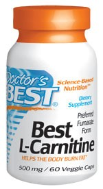 Doctor's Best L-Carnitine Fumarate 855mg, 60 vegicaps