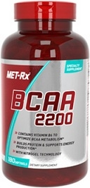 Metrx BCAA 2200 Branched Chain Amino Acids - 180 Capsules