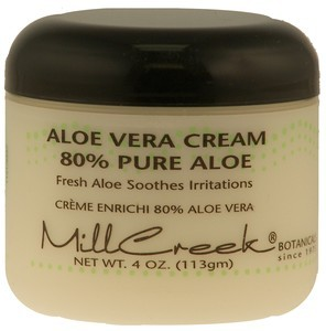 mill creek aloe vera cream 4oz 80 pure aloe vera. Black Bedroom Furniture Sets. Home Design Ideas