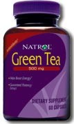Natrol Green Tea Supplement Capsules 500mg, 60 caps