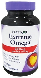 Natrol Extreme Omega Fish Oil 60 softgels