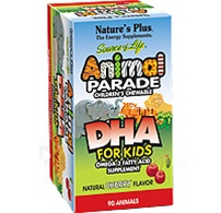 Nature's Plus Animal Parade DHA for Kids 90 Chewables