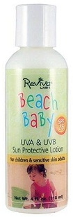 Reviva Beach Baby Suntan Lotion SPF25 - 4 fl. oz.