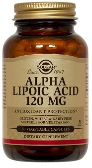 Solgar Alpha Lipoic Acid 120mg, 60 vegicaps