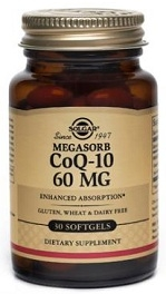 Solgar Coq10 60 mg - 30, 60, 120 softgels