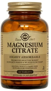 Solgar Magnesium Citrate 200mg, 60 or 120 tabs