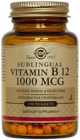 Solgar B12 Vitamins 1000mcg, 100 or 250 chewables