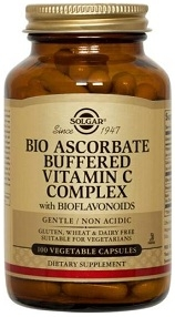 Solgar Bio-Ascorbate Buffered Vitamin C Complex, 100 vegicaps