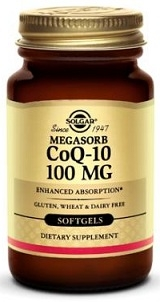 Solgar COQ-10 100mg, 30 softgels
