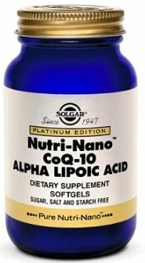 Solgar Nutri Nano CoQ-10 with Alpha Lipoic Acid 60 softgels