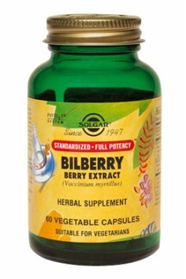 Solgar Bilberry Extract 60 Caps Eye Health