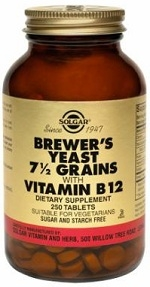 Solgar Brewers Yeast 7 1/2 Grains 250 Tablets