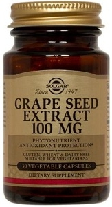 Solgar Grape Seed Extract 100 mg - 30 or 60 Vegicaps