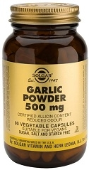 Solgar Garlic Powder 500 mg - 90 or 180 Vegicaps