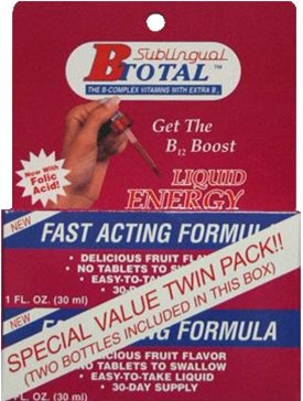 Sublingual B-Total Liquid Energy Bonus Pak 2 OZ.