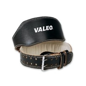 Leather Weightlifting Belt from Valeo Fitness Gear 6 inch