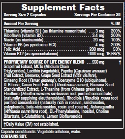all day energy ingredient label