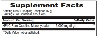 Metrx creatine ingredients label