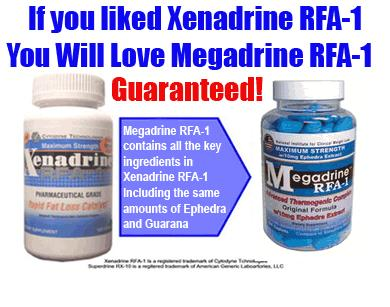 Megadrine RFA-1 vs. Xenadrine RFA-1