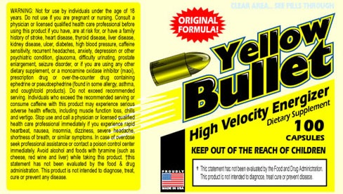 Yellow Bullet with Ephedra